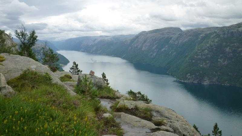 Views down Lysefjord